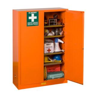 orange cabinet